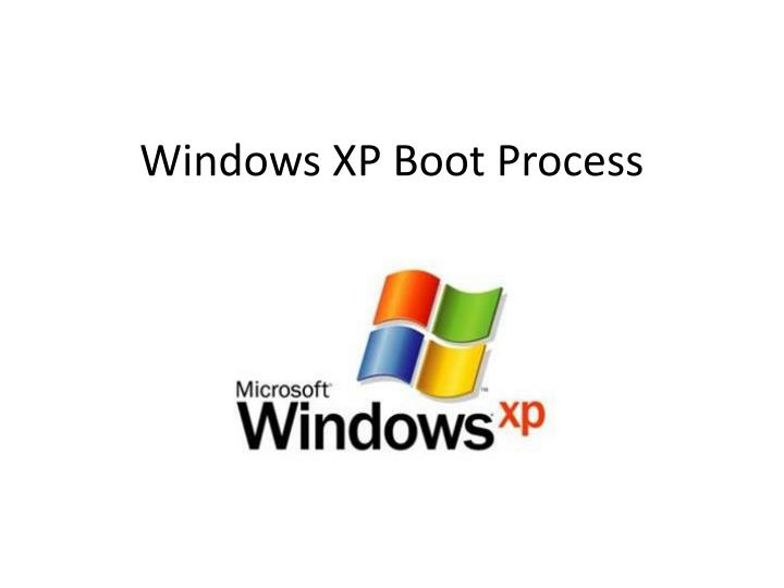 windows xp boot process n.