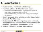 4 lean kanban