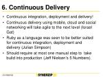 6 continuous delivery