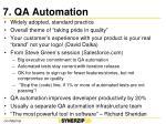 7 qa automation
