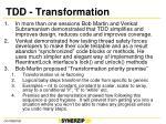 tdd transformation