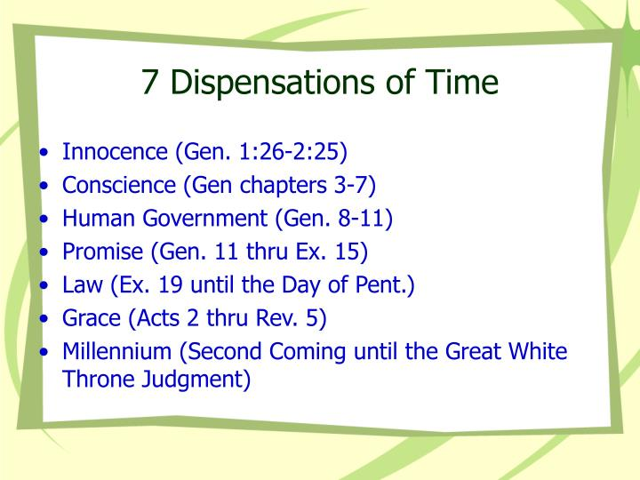 7 dispensations of time