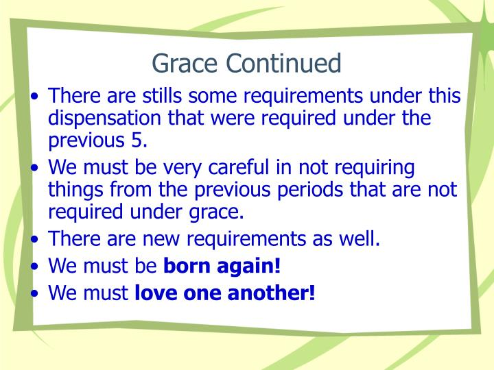 Grace Continued