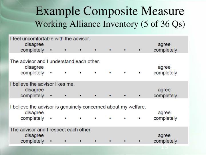 Example Composite Measure