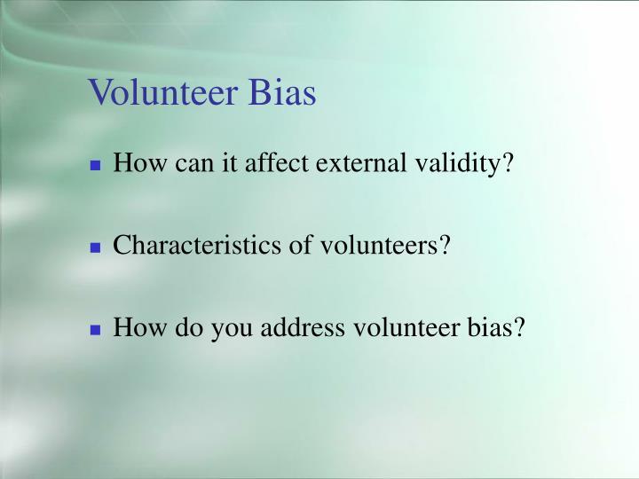 Volunteer Bias