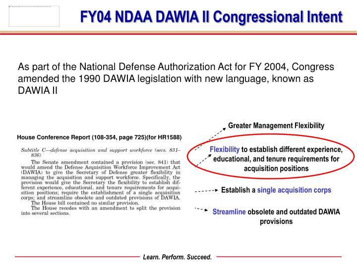 dawia certification fy08 logistics cycle framework core plus ndaa ppt powerpoint presentation ii fy amended authorization legislation congress defense act