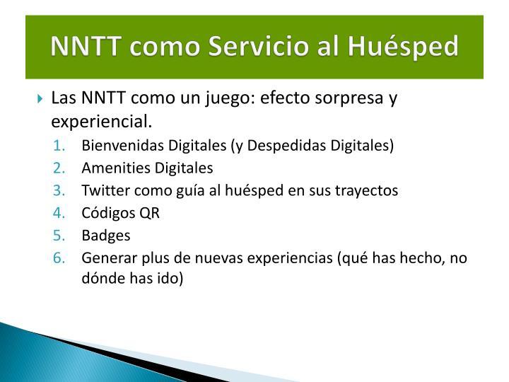 NNTT como Servicio al Huésped