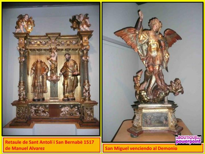 Retaule de Sant Antolí i San Bernabè 1517 de Manuel Alvarez