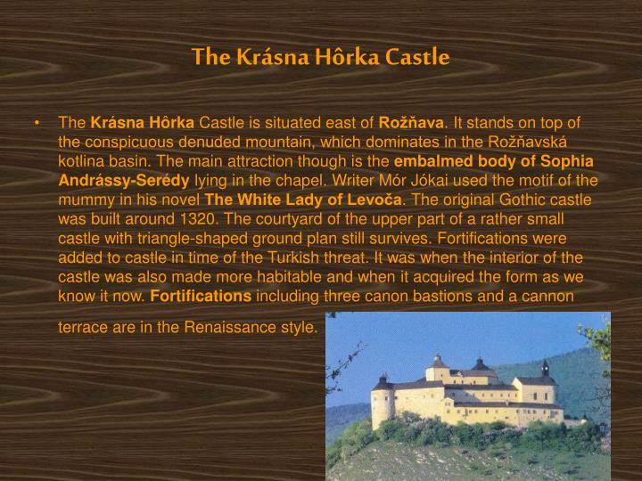 The Krásna Hôrka Castle