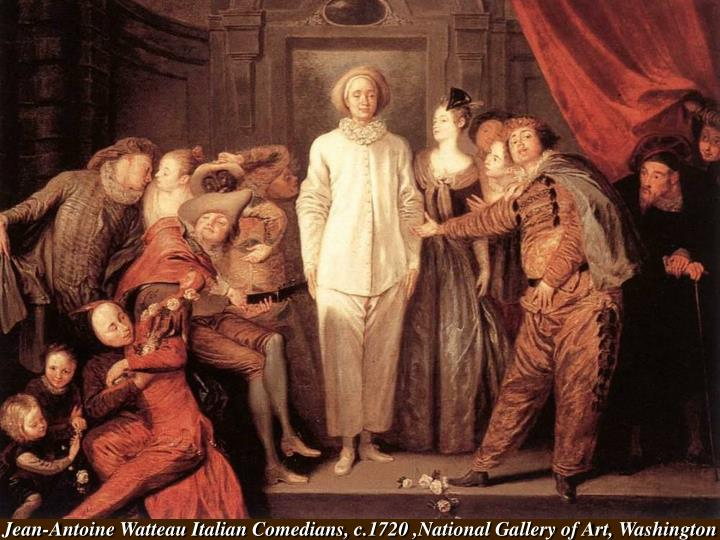 Jean-Antoine Watteau Italian Comedians, c.1720 ,National Gallery of Art, Washington