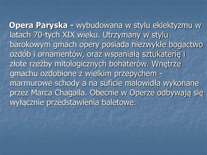 Opera Paryska -