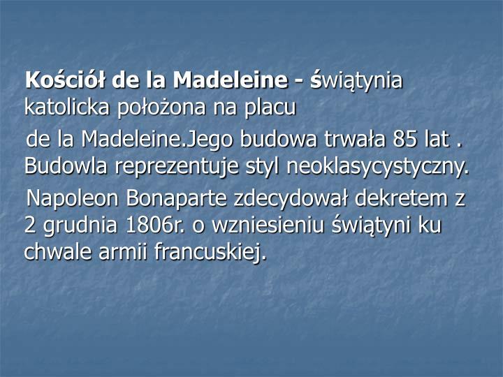 Kościół de la Madeleine - ś