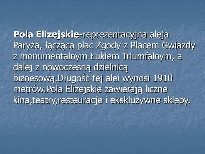 Pola Elizejskie-