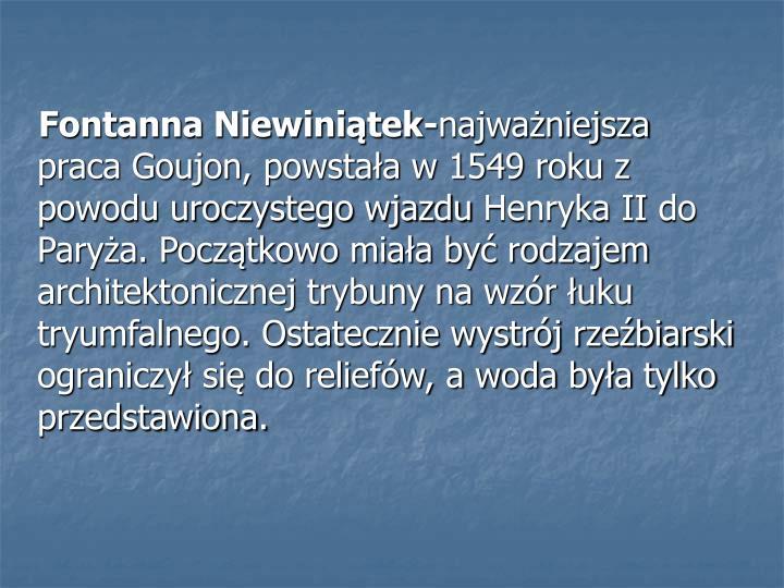 Fontanna Niewiniątek-