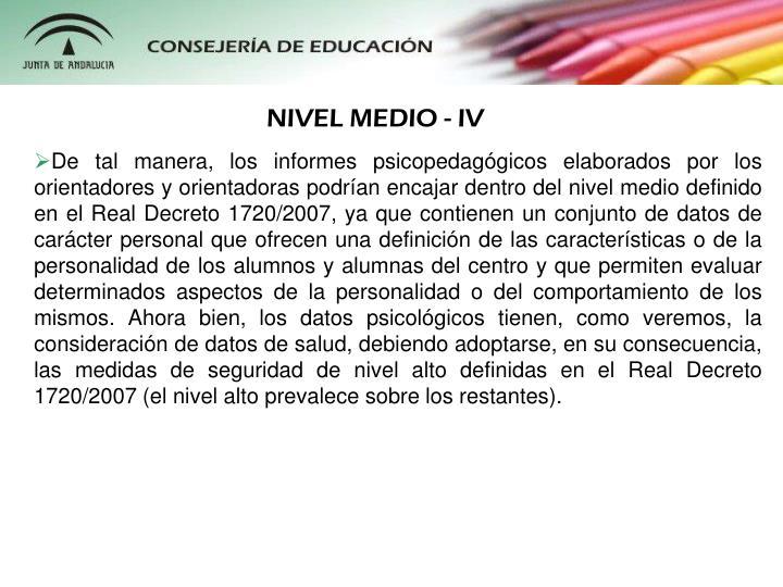 NIVEL MEDIO - IV