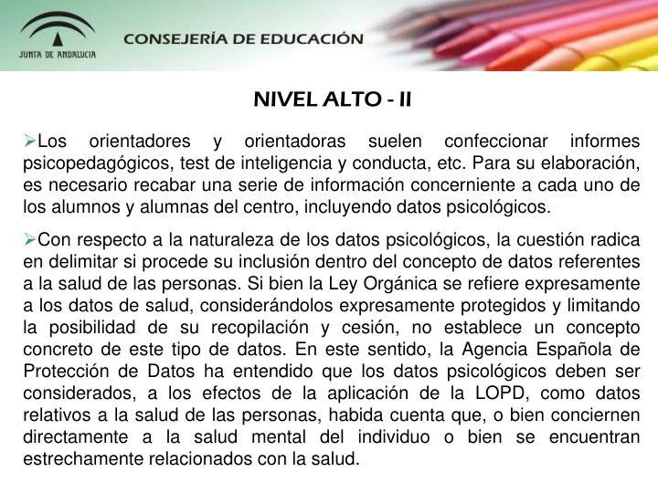 NIVEL ALTO - II