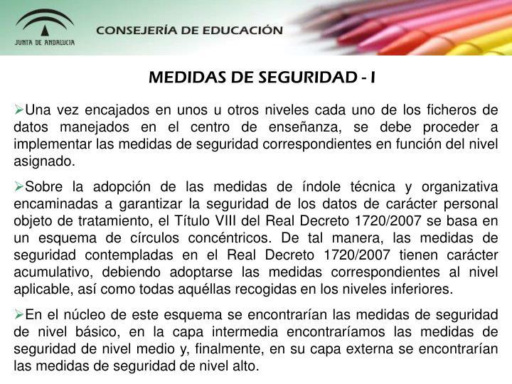MEDIDAS DE SEGURIDAD - I