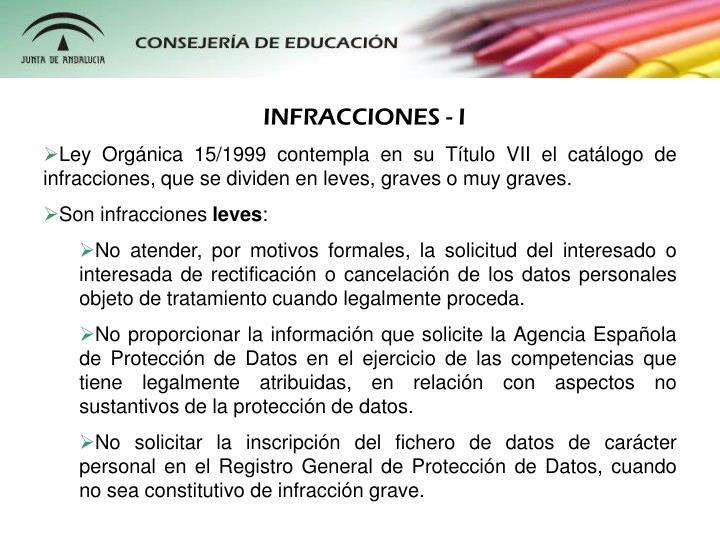 INFRACCIONES - I