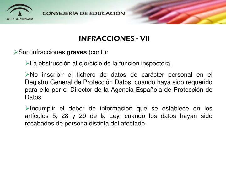 INFRACCIONES - VII