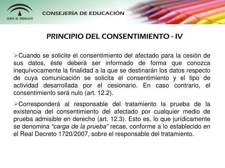 PRINCIPIO DEL CONSENTIMIENTO - IV