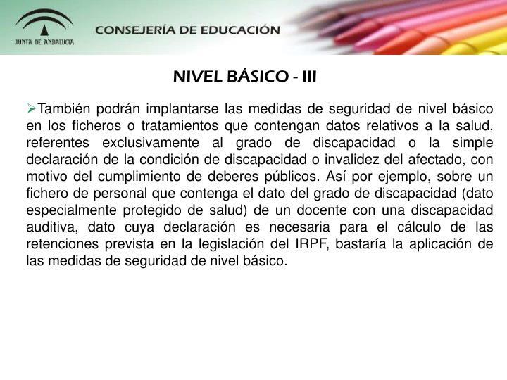 NIVEL BÁSICO - III