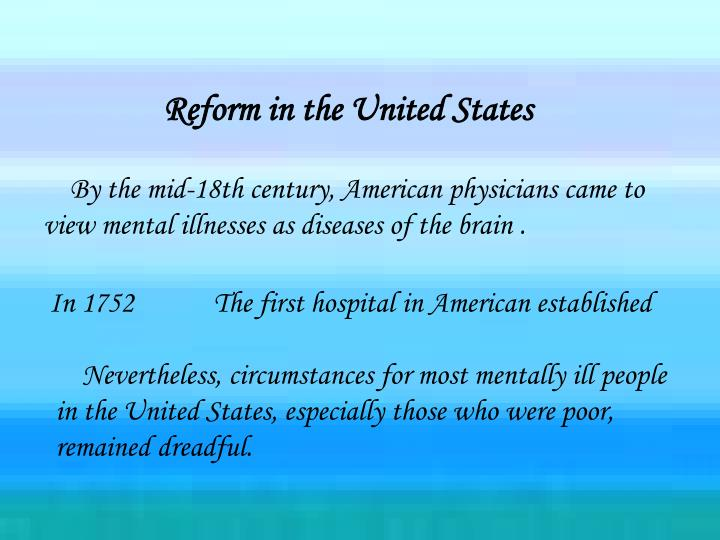 Reform in the United States