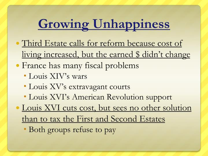 Growing Unhappiness