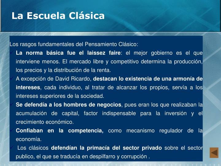 La Escuela Clásica