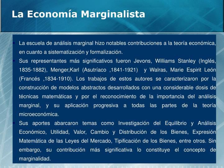 La Economía Marginalista