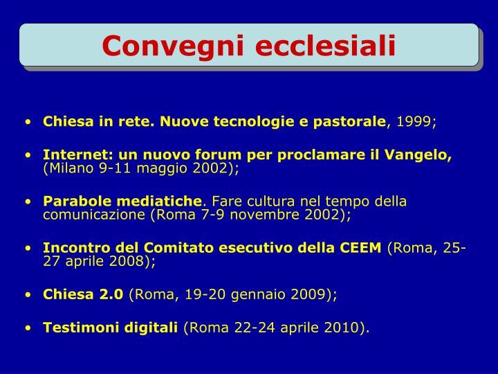 Chiesa in rete. Nuove tecnologie e pastorale
