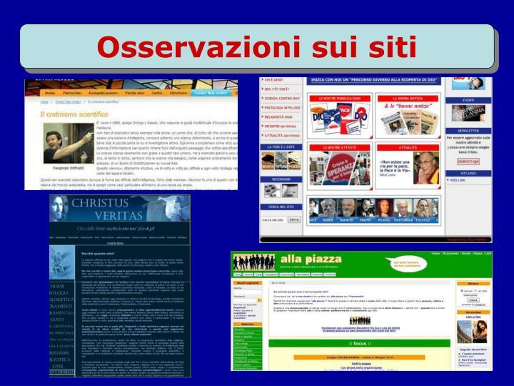 Osservazioni sui siti