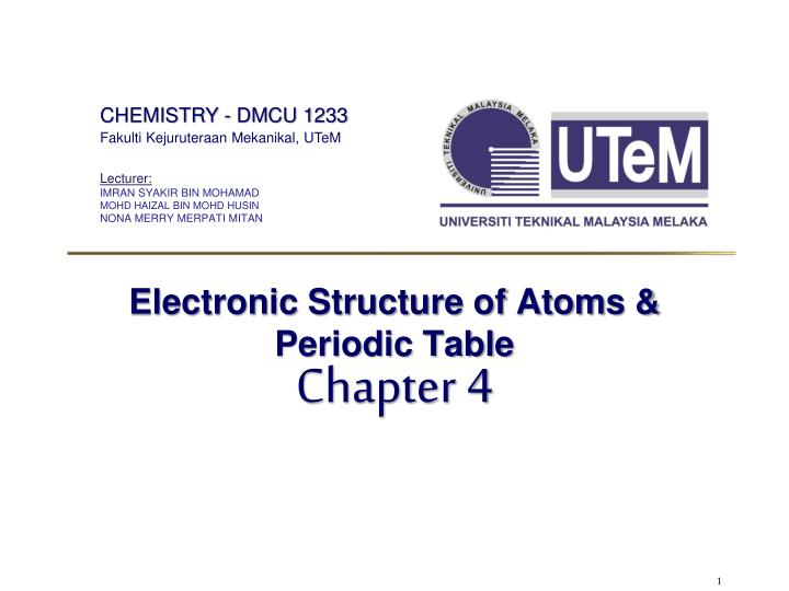electronic structure of atoms periodic table n.