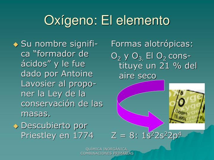 Ox geno el elemento