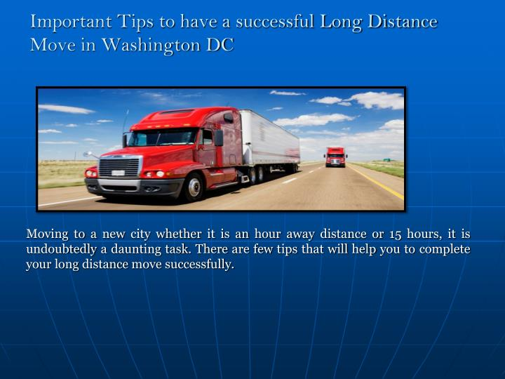 important tips to have a successful long distance move in washington dc n.