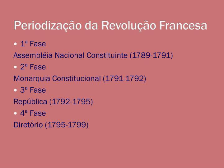 Periodiza o da revolu o francesa