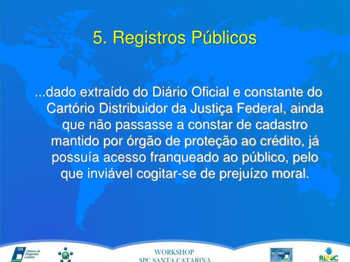 5. Registros Públicos