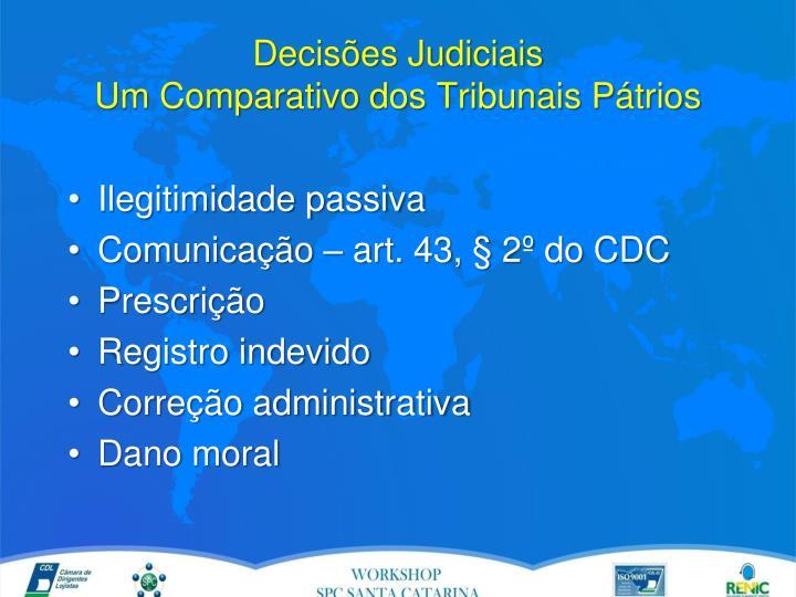 Decis es judiciais um comparativo dos tribunais p trios1