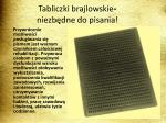 tabliczki brajlowskie niezb dne do pisania