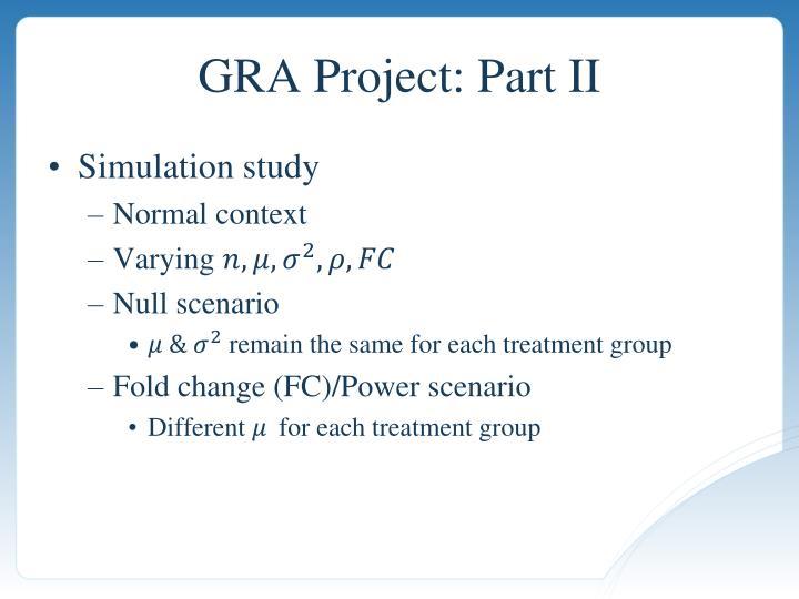 GRA Project: Part