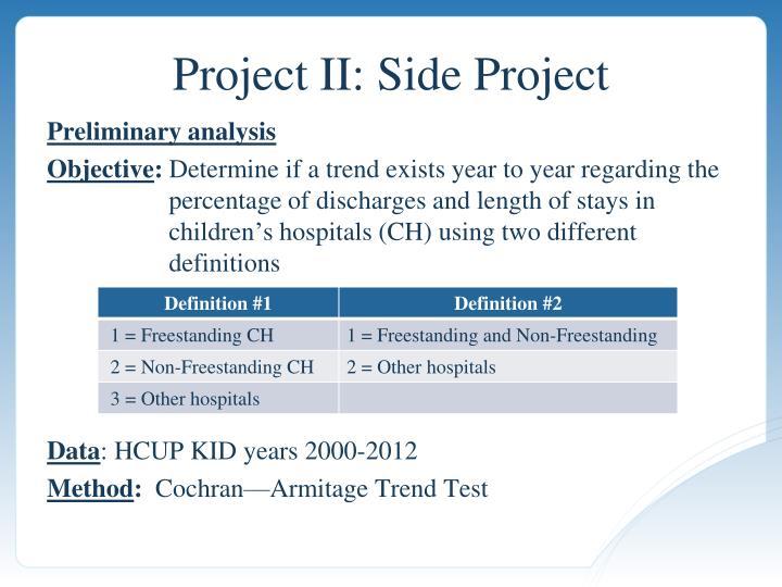 Project II: Side Project