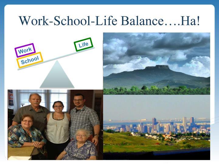 Work-School-Life Balance….Ha!
