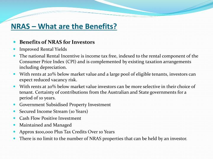 NRAS – What are the Benefits?