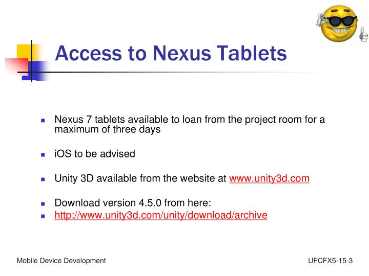 Access to Nexus Tablets