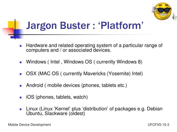 Jargon Buster :
