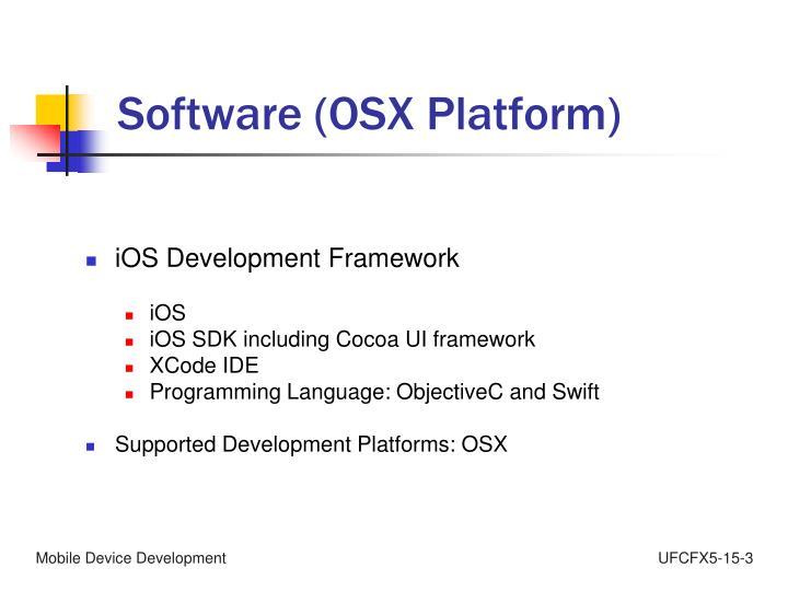 Software (OSX Platform)