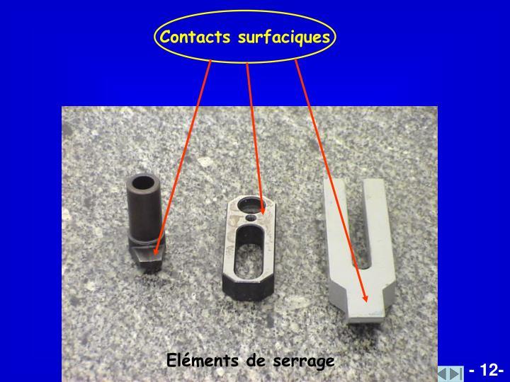 Contacts surfaciques