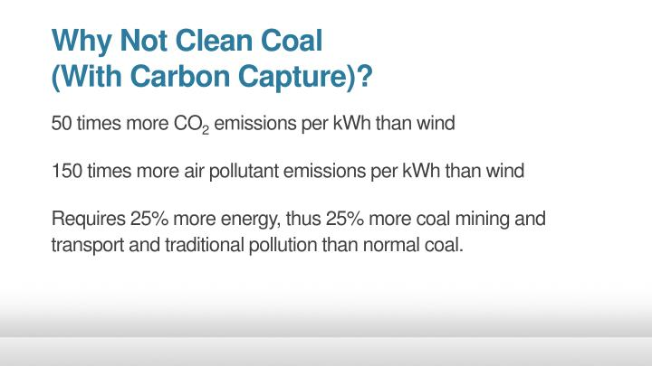 Why Not Clean Coal