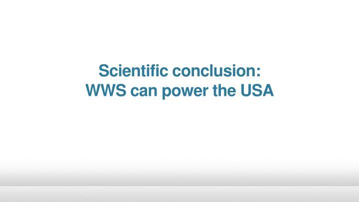 Scientific conclusion: