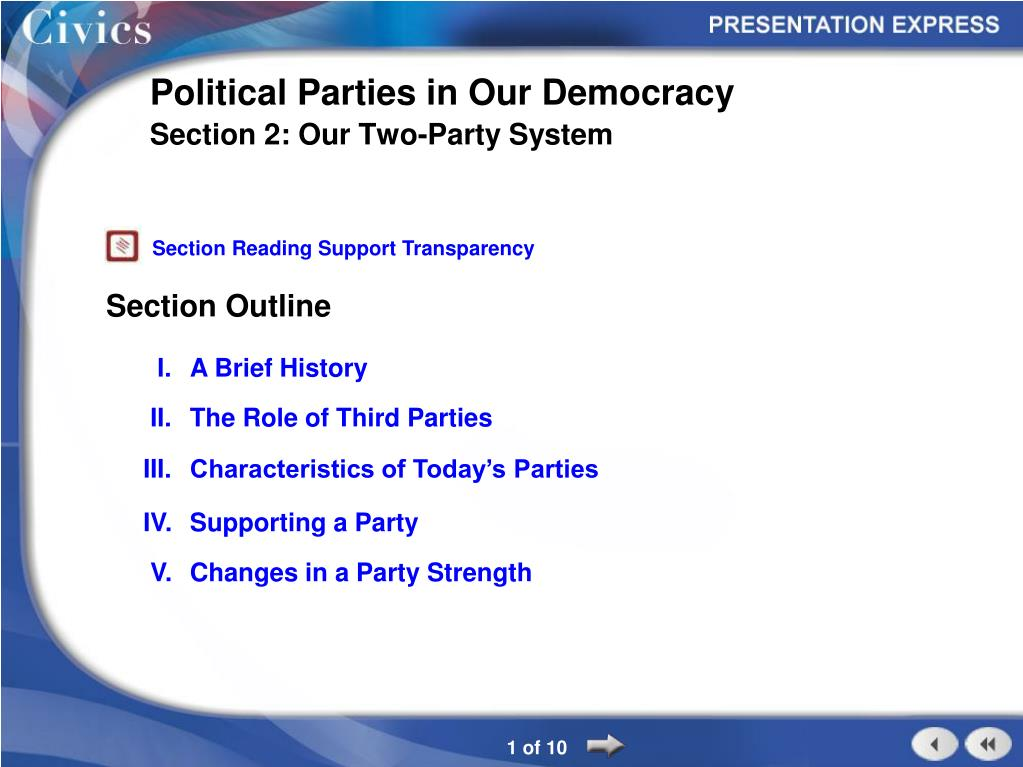 3 characteristics of political parties