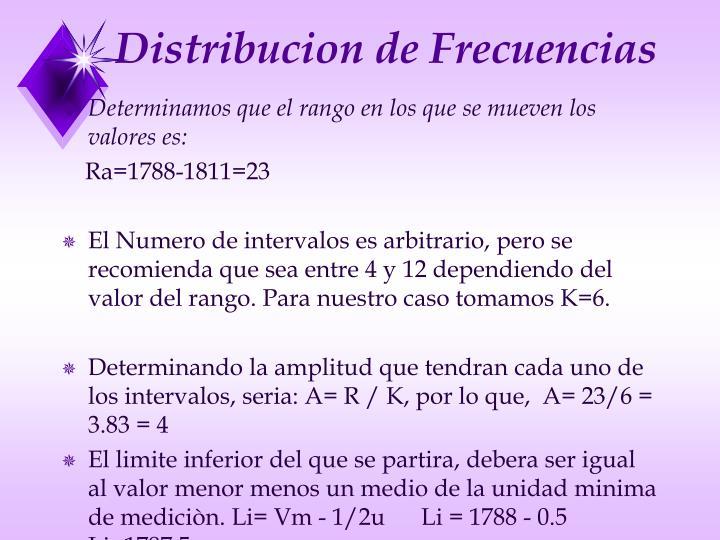 Distribucion de Frecuencias